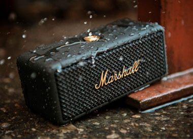 Limited Edition Marshall Emberton Bluetooth Speaker (Black and Brass)